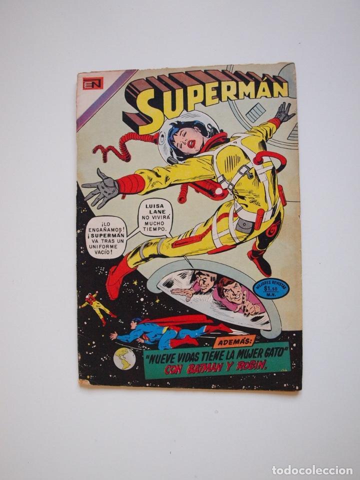SUPERMÁN - Nº 932 - LUISA LANE, BATMAN Y ROBIN, LA MUJER GATO - NOVARO 1973 (Tebeos y Comics - Novaro - Superman)