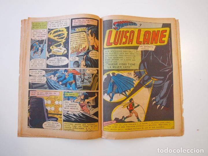 Tebeos: SUPERMÁN - Nº 932 - LUISA LANE, BATMAN Y ROBIN, LA MUJER GATO - NOVARO 1973 - Foto 4 - 205799453