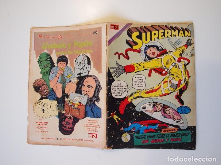 Tebeos: SUPERMÁN - Nº 932 - LUISA LANE, BATMAN Y ROBIN, LA MUJER GATO - NOVARO 1973 - Foto 6 - 205799453