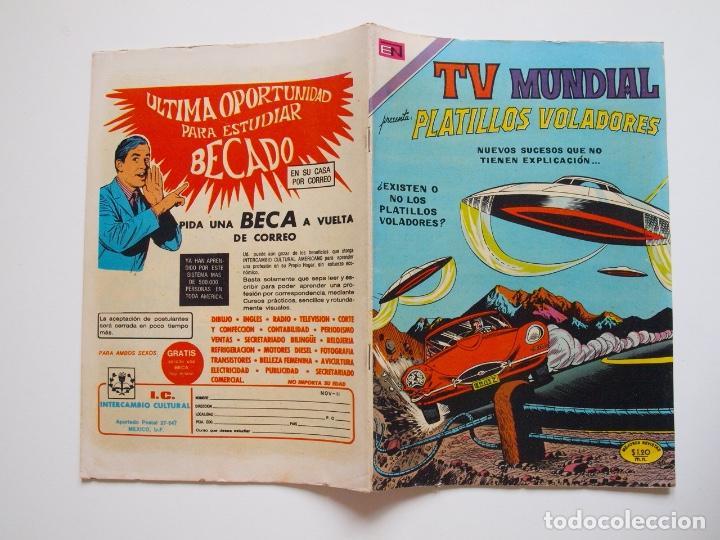 Tebeos: TV MUNDIAL Nº 188 - PLATILLOS VOLADORES - NOVARO 1971 - BE - Foto 5 - 205825178