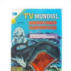 Tebeos: TV MUNDIAL Nº 234 - NARRACIONES TERRORÍFICAS - NOVARO 1972 - BE. Lote 205826271