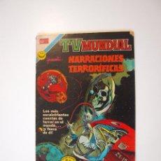 Tebeos: TV MUNDIAL Nº 232 - NARRACIONES TERRORÍFICAS - NOVARO 1972. Lote 205827886