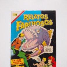 Tebeos: RELATOS FABULOSOS Nº 98 - AQUAMÁN, EL NACIMIENTO DE AQUANENE - NOVARO 1967. Lote 205829490