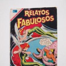 Tebeos: RELATOS FABULOSOS Nº 95 - AQUAMÁN, LA TRAMPA DE LAS NINFAS - NOVARO 1965. Lote 205831425