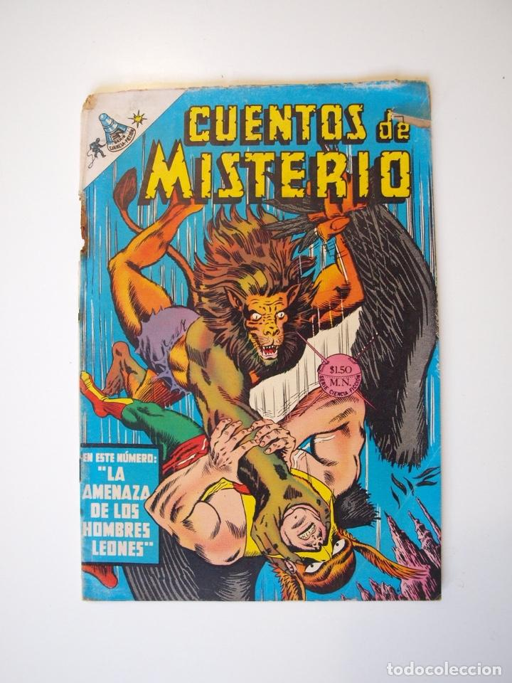 CUENTOS DE MISTERIO Nº 134 - LA AMENAZA DE LOS HOMBRES LEONES - NOVARO 1968 (Tebeos y Comics - Novaro - Sci-Fi)