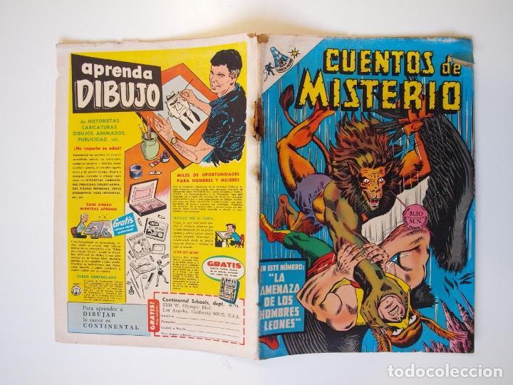 Tebeos: CUENTOS DE MISTERIO Nº 134 - LA AMENAZA DE LOS HOMBRES LEONES - NOVARO 1968 - Foto 9 - 206146217