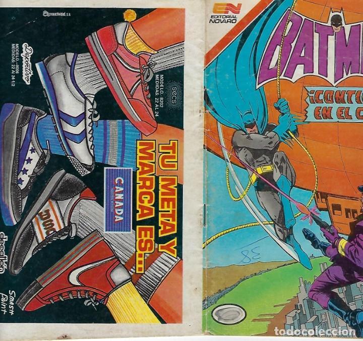 Tebeos: BATMAN: SERIE AGUILA - AÑO: XXXII - Nº 1247 - AGOSTO 3 DE 1984 *** EDITORIAL NOVARO *** - Foto 3 - 207060415
