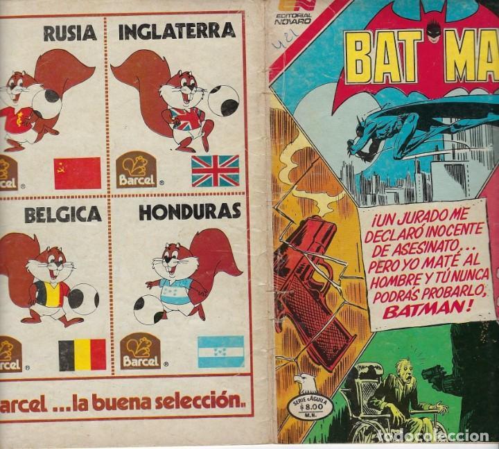 Tebeos: BATMAN: SERIE AGUILA - AÑO: XXXI - Nº 2-1153 - OCTUBRE 15 DE 1982 *** EDITORIAL NOVARO *** - Foto 3 - 207060982