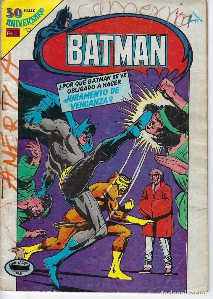 BATMAN: SERIE AGUILA - AÑO: XXVIII - Nº 2-1059 - DICIEMBRE 26 DE 1980 *** EDITORIAL NOVARO *** (Tebeos y Comics - Novaro - Batman)