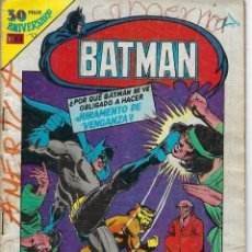 Tebeos: BATMAN: SERIE AGUILA - AÑO: XXVIII - Nº 2-1059 - DICIEMBRE 26 DE 1980 *** EDITORIAL NOVARO ***. Lote 207061588