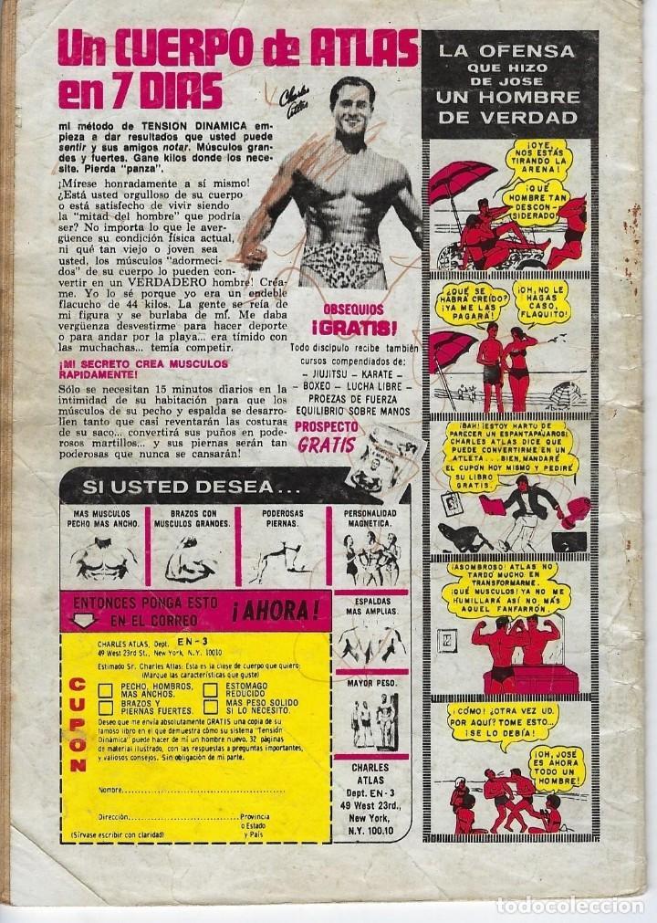 Tebeos: BATMAN: SERIE AGUILA - AÑO: XXVIII - Nº 2-1059 - DICIEMBRE 26 DE 1980 *** EDITORIAL NOVARO *** - Foto 2 - 207061588
