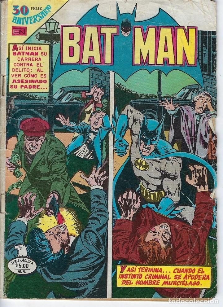 BATMAN: SERIE AGUILA - AÑO: XXVIII - Nº 2-1041 - AGOSTO 22 DE 1980 *** EDITORIAL NOVARO *** (Tebeos y Comics - Novaro - Batman)