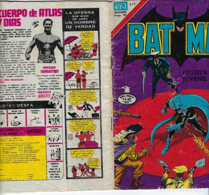 Tebeos: BATMAN: SERIE AGUILA - AÑO: XXVII - Nº 2-971 - JUNIO 1º DE 1979 *** EDITORIAL NOVARO *** - Foto 3 - 207061922
