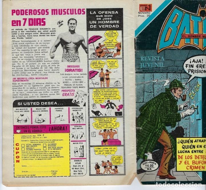 Tebeos: BATMAN: SERIE AGUILA - AÑO: XXVI - Nº 2-950 - NOVIEMBRE 26 DE 1978 *** EDITORIAL NOVARO *** - Foto 3 - 207062695