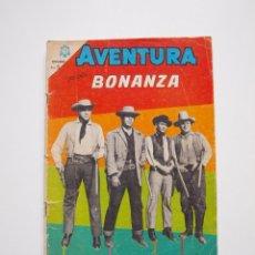 Tebeos: AVENTURA Nº 371 - BONANZA - DÍA NEGRO EN CIUDAD VIRGINIA - NOVARO 1965. Lote 207085571