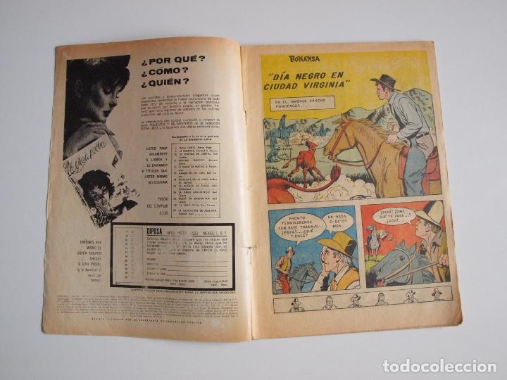 Tebeos: AVENTURA Nº 371 - BONANZA - DÍA NEGRO EN CIUDAD VIRGINIA - NOVARO 1965 - Foto 2 - 207085571