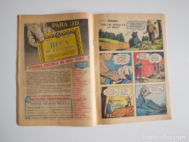 Tebeos: AVENTURA Nº 371 - BONANZA - DÍA NEGRO EN CIUDAD VIRGINIA - NOVARO 1965 - Foto 3 - 207085571