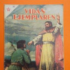 Tebeos: VIDAS EJEMPLARES Nº 26 - SAN ISIDRO LABRADOR, MODELO DE CAMPESINOS - AÑO 1956 - ED. NOVARO... L1242. Lote 207211940
