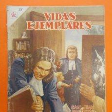 Tebeos: VIDAS EJEMPLARES Nº 29 - SAN JUAN BAUTISTA DE LA SALLE - AÑO 1956 - ED. NOVARO... L1244. Lote 207215236