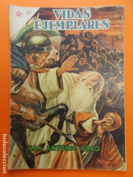 VIDAS EJEMPLARES Nº 35, SAN ANTONIO ABAD - AÑO 1957 - ED. NOVARO... L1249 (Tebeos y Comics - Novaro - Vidas ejemplares)