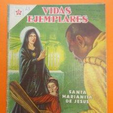Tebeos: VIDAS EJEMPLARES Nº 43, SANTA MARIANITA DE JESUS, LA AZUCENA DE QUITO - AÑO 1957 -ED. NOVARO.. L1255. Lote 207267081