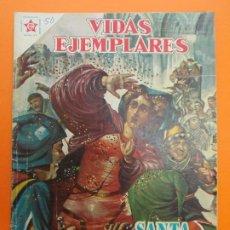 Tebeos: VIDAS EJEMPLARES Nº 50, SANTA CATALINA DE SENA - AÑO 1958 - ED. NOVARO... L1257. Lote 207268697