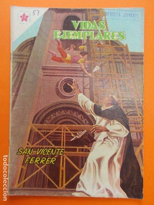 VIDAS EJEMPLARES Nº 57, SAN VICENTE FERRER - AÑO 1959 - ED. NOVARO... L1261 (Tebeos y Comics - Novaro - Vidas ejemplares)
