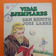 Tebeos: VIDAS EJEMPLARES Nº 154, SAN BENITO JOSE LABRE - AÑO 1963 - ED. NOVARO... L1265. Lote 207277553