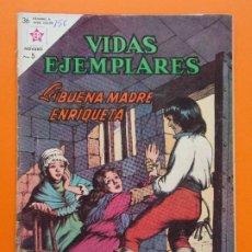 Tebeos: VIDAS EJEMPLARES Nº 156, LA BUENA MADRE ENRIQUETA - AÑO 1963 - ED. NOVARO... L1266. Lote 207278183