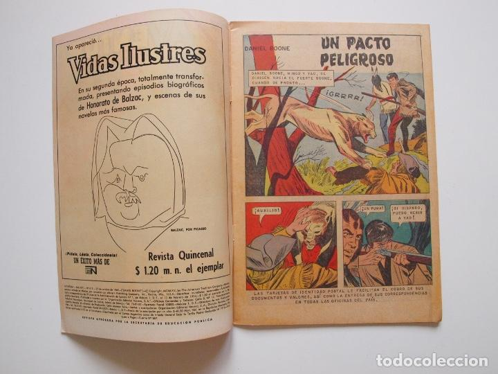 Tebeos: AVENTURA Nº 615 - DANIEL BOONE - EL ARDID DEL CUATRERO - NOVARO 1969 - Foto 2 - 207474420