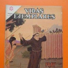 Tebeos: VIDAS EJEMPLARES Nº 199, FRAY JUNIPERO SERRA - AÑO 1965 - ED. NOVARO... L1271. Lote 207537297