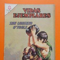 Tebeos: VIDAS EJEMPLARES Nº 220, SAN LORENZO O'TOOLE - AÑO 1966 - ED. NOVARO... L1273. Lote 207538377
