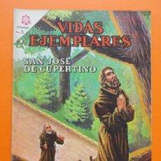 Tebeos: VIDAS EJEMPLARES Nº 223, SAN JOSE DE CUPERTINO - AÑO 1966 - ED. NOVARO... L1274. Lote 207538496