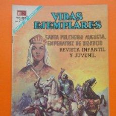 Tebeos: VIDAS EJEMPLARES Nº 265 - SANTA PULCHERIA AUGUSTA, EMPERATRIZ DE BIZANCIO - 1968 - ED. NOVARO. L1284. Lote 207548561