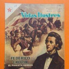 Tebeos: VIDAS ILUSTRES Nº 18 - FEDERICO CHOPIN, EL PIANISTA HEROICO - AÑO 1957 - ED. NOVARO. L1295. Lote 207642091