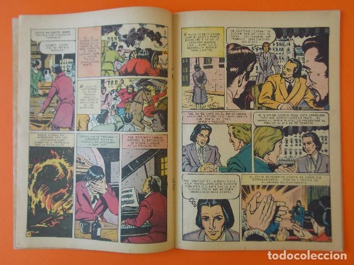 Tebeos: VIDAS ILUSTRES Nº 18 - FEDERICO CHOPIN, EL PIANISTA HEROICO - AÑO 1957 - ED. NOVARO. L1295 - Foto 2 - 207642091