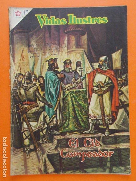 VIDAS ILUSTRES Nº 19, EL CID CAMPEADOR - AÑO 1957 - ED. NOVARO. L1296 (Tebeos y Comics - Novaro - Vidas ilustres)