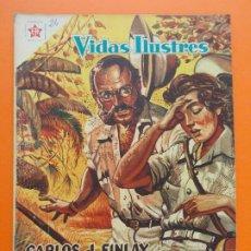 Tebeos: VIDAS ILUSTRES Nº 24, CARLOS J. FINLAY, EL VENCEDOR DE LA FIEBRE AMARILLA - 1958 - ED. NOVARO. L1298. Lote 207646042