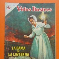 Tebeos: VIDAS ILUSTRES Nº 29, LA DAMA DE LA LINTERNA, FLORENCIA NIGHTINGALE - AÑO 1958 - ED. NOVARO. L1303. Lote 207650601