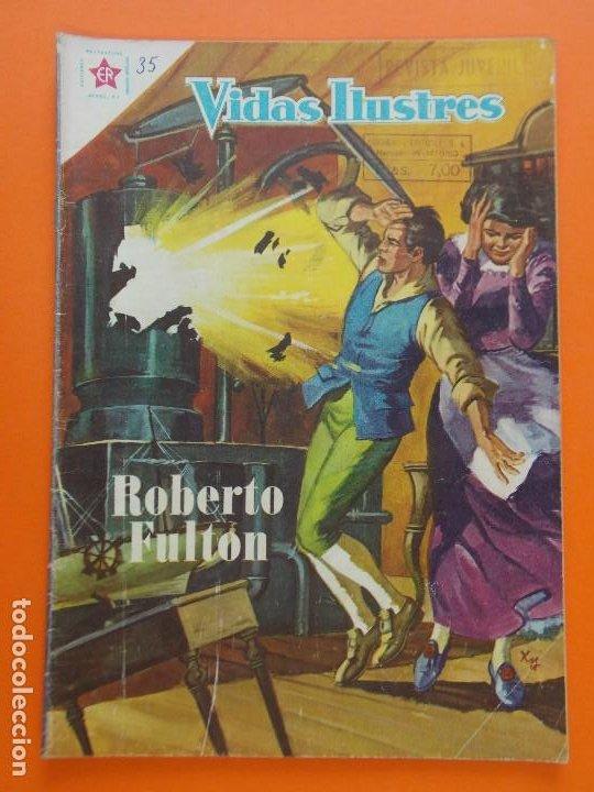 VIDAS ILUSTRES Nº 35, ROBERTO FULTON - AÑO 1958 - ED. NOVARO. L1309 (Tebeos y Comics - Novaro - Vidas ilustres)
