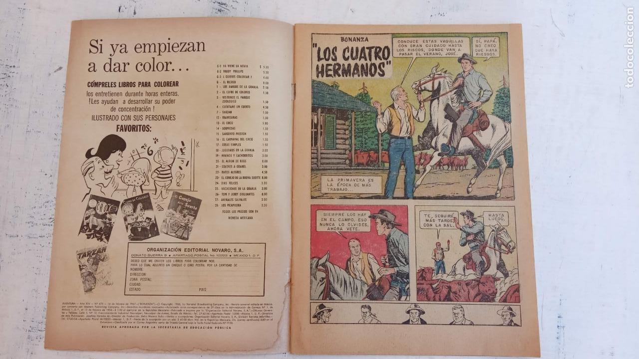 Tebeos: AVENTURA PREENTA: BONANZA Nº 475 - AÑO 1967 - Foto 2 - 209802331