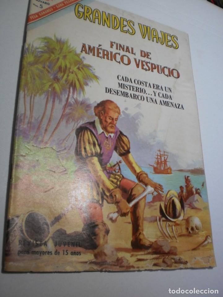 GRANDES VIAJES Nº 47 FINAL DE AMÉRICO VESPUCIO 1966 (ESTADO NORMAL, LEER) (Tebeos y Comics - Novaro - Grandes Viajes)