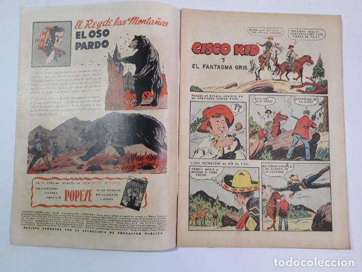 Tebeos: Domingos alegres n° 42 - Cisco Kid! (excelente) - original editorial Novaro - Foto 2 - 210002238