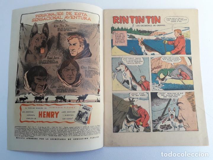 Tebeos: Domingos alegres n° 57 - Rin Tin Tin! (impecable) - original editorial Novaro - Foto 2 - 210003650