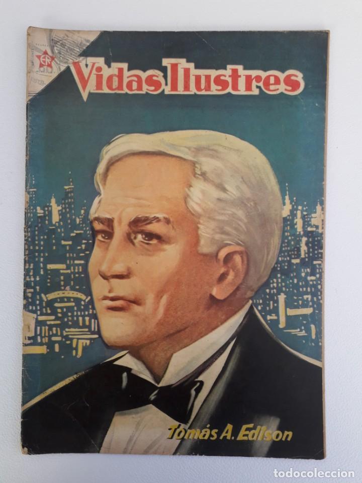 VIDAS ILUSTRES N° 2 - TOMÁS ALVA EDISON - ORIGINAL EDITORIAL NOVARO (Tebeos y Comics - Novaro - Vidas ilustres)