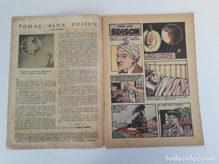 Tebeos: Vidas ilustres n° 2 - Tomás Alva Edison - original editorial Novaro - Foto 2 - 210014455