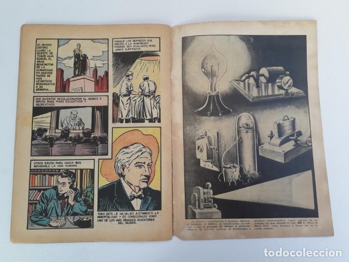 Tebeos: Vidas ilustres n° 2 - Tomás Alva Edison - original editorial Novaro - Foto 3 - 210014455