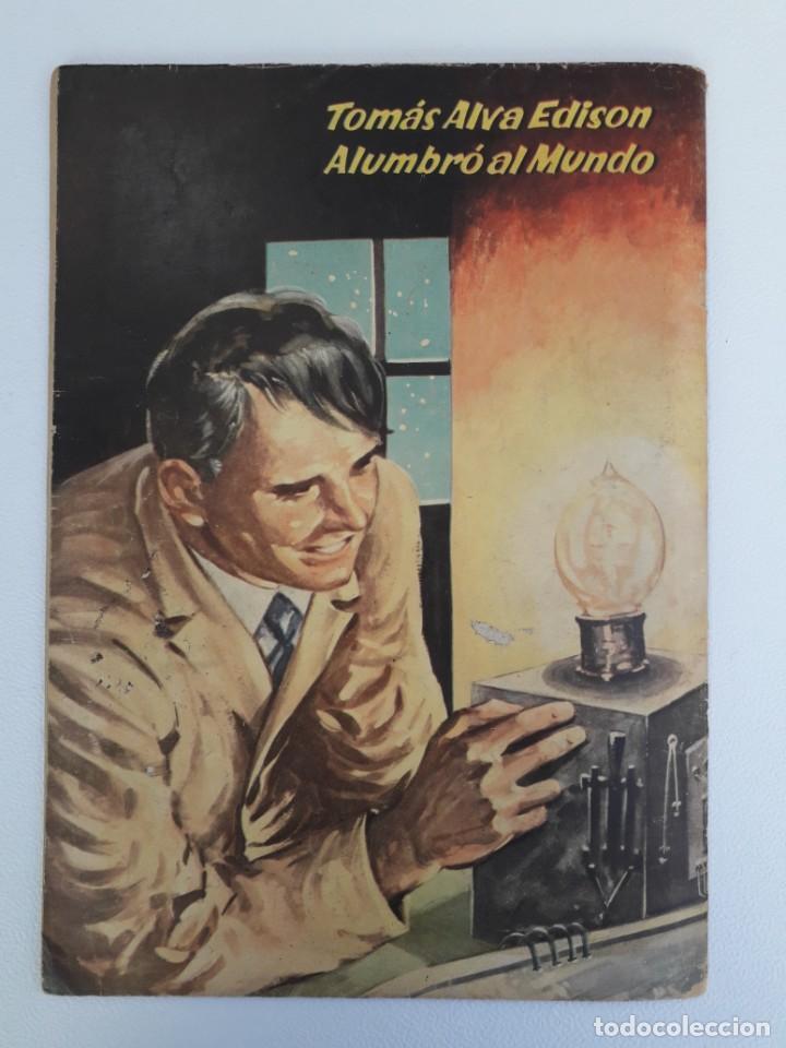 Tebeos: Vidas ilustres n° 2 - Tomás Alva Edison - original editorial Novaro - Foto 4 - 210014455