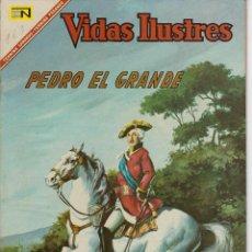 Tebeos: VIDAS ILUSTRES: PEDRO EL GRANDE - AÑO XII, Nº 163, JULIO 1º DE 1967 *** NOVARO MÉXICO ***. Lote 210081808