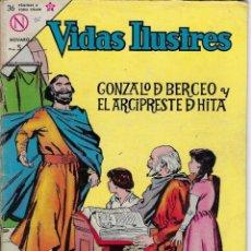 Livros de Banda Desenhada: VIDAS ILUSTRES: GONZALO BERCEO Y ... - AÑO VIII, Nº 95 - DICIEMBRE 1º DE 1963 *** NOVARO MÉXICO ***. Lote 210085331